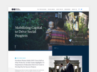 Social Finance Homepage Concept