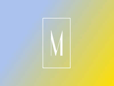 Monolith wordmark typography gradient logo