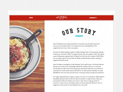 Save on Meats Website modern clean ui design vancouver social impact layout restaurant web design website ui design