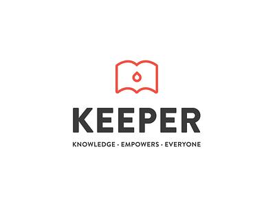 Keeper design brand vector feminism education non profit modern clean branding logo