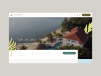 Belize Resort Website Layout clean modern ui website concept hotel web design layout website