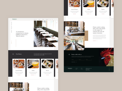 Restaurant Homepage Concept restaurant branding elegant classic restaurant ui design clean modern layout web design website