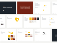 Anzafrika Brand Guidelines logo vector design africa logo design identity branding layout presentation brand guidelines
