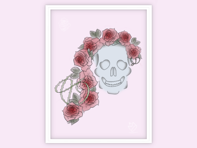 Skull + Rose + Thorns