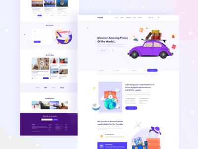 Travely-Travel Agency Landing Page branding design top designer creative design web design illustration typography 2020 design awesome design agency