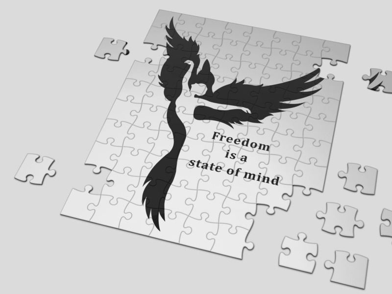 FREEDOM FLY design black