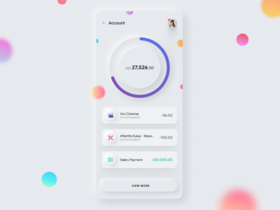 002 - Neumorphic Banking App Wallet wallet banking app ui skeuomorphism skeuomorphic neuomorphic neumorphism neumorphic exploration visual ux ui