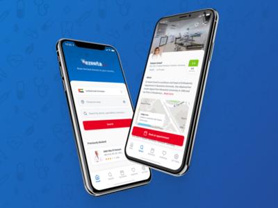 Medical Doctor Mobile App healthcare concept booking doctor medical health ios design app ux ui