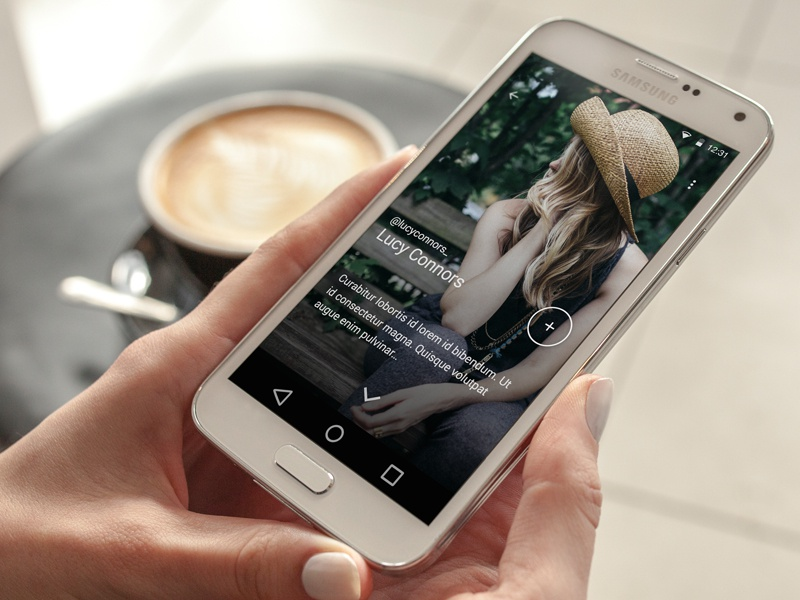 Android Photo App android material design mobile photo app ui