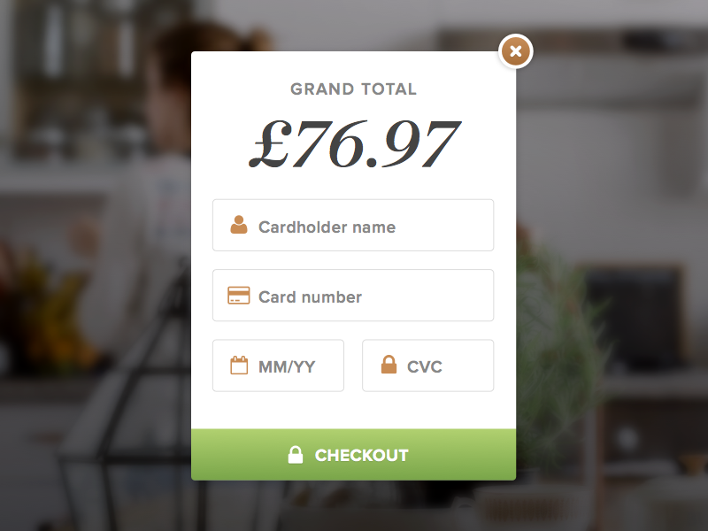 Credit Card Checkout - Day #002 002 dailyui shopping checkout card credit card input form ui ux visual interface