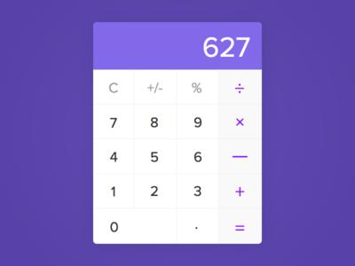 Generic Calculator - Day #004 buttons clean calculator 004 dailyui ui ux visual interface