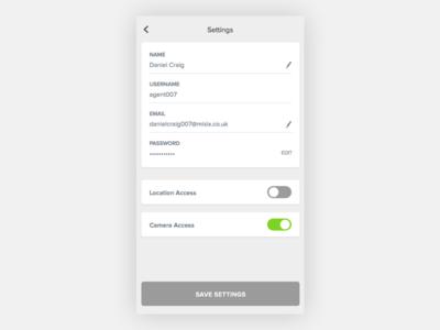 Settings - Day #007 007 dailyui ui ux visual toggle settings app mobile