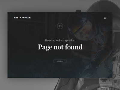 404 Error - Day #008 008 dailyui ui ux visual interface error page 404 movie hero fullscreen header