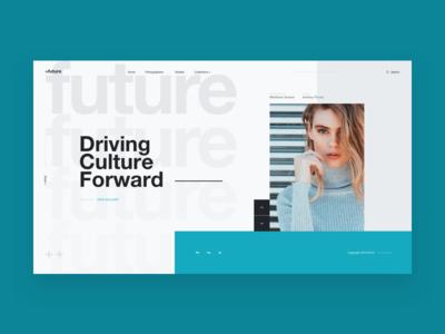 Future Photography - Exploration minimal interaction landing mondrianizm exploration helvetica photography fashion concept