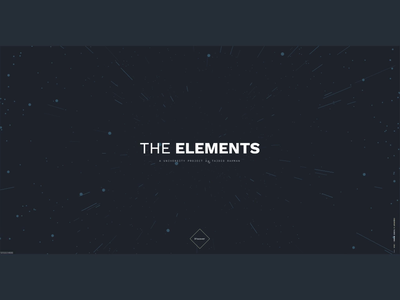 The Elements - Student Project sci-fi interface ux web layout typography student project particles 3d exploration visual ui