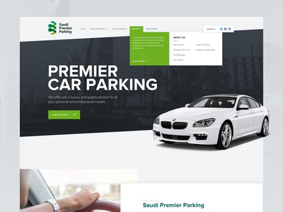 Saudi Premier Parking web design web design agency car parking web design ui