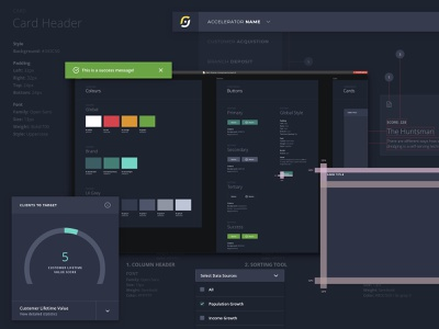 Components Library Snippet component library dark interface web app ux visual ui