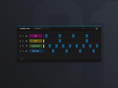 001 - Channel Rack interface channel rack music design dailyui exploration visual ui