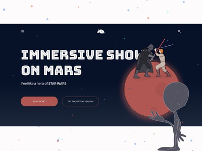 """Concept """"Immersive show on Mars"""""""