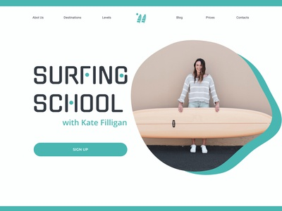 First of 4 concepts about surfing school