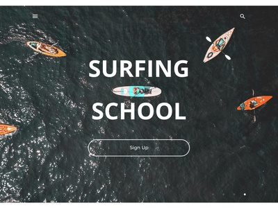 Second of 4 concepts about surfing school