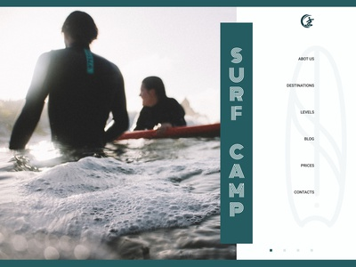 Third of 4 concepts about surfing school