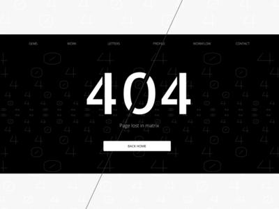 404 Lost in matrix