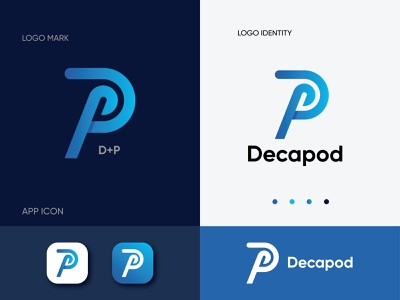 Decapod  modern logo and brand identity design identity icon illustrator logo design minimal app logo gradient flat 3d logotype logo trends 2020 ui app logo abstract branding illustration corporate lettermark brand identity