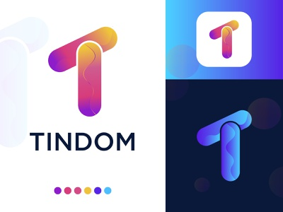 T Modern letter logo design typogaphy minimal logo mark colorful contact gradient app design logo design app logo design app logo app 3d illustration vector logo trends 2020 lettermark branding abstract brand identity