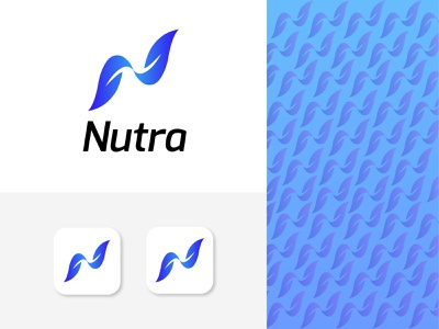 Nutra health supplement company logo design modern logo trends 2020 minimal concept design corporate brand identity brand design branding brand app logo abstract logotype symbol health business company logo design logo