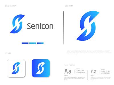 Senicon logo design ( Letter S logo) network modern minimalistic logotypes logodesign logo trends 2020 logo design logos letter s designs corporate concept company branding brand identity brand design brand app logo agancy abstract