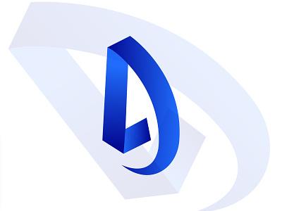 LD modern logo design brand mobile app letter d colorfull gradient minimal logo trends 2021 modern vector lettermark illustration design concept app brand identity app logo branding logo