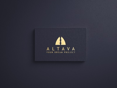Altava logo mark. ( Luxury Brand ) minimal golden logo luxury branding luxury logo luxury brand luxury logotype logo design logo jewellery illustraion a logo fashion elegant design clothes business branding brand design beauty