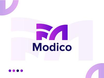 Modico - logo design symbol icons logo design branding all vector minimalist logo designer letter m logo design branding 2d brand design modern logo minimal abstract icon logotype concept app logo design brand identity branding logo