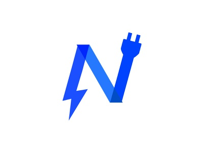 Nitro electronic Logo Template brand mark generation simplicity electronics business connection abstract vector logotype concept app logo design branding brand network software sharing electronic cubic circuit