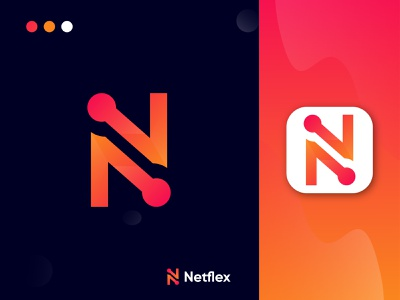 Netflex- logo design. Modern N letter logo mark modern design logo presentation brand designer branding agency brand design graphic design n logo mark letter n colorful gradient logo modern logo abstract concept icon logotype app logo illustration design logo branding