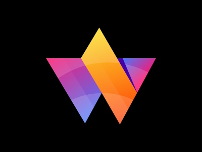 W modern letter logo. lettering w modern logo a to z abstract colorful hosting website logo web design logo w w logo letter logo letter vector logotype icon modern logo illustration design logo branding
