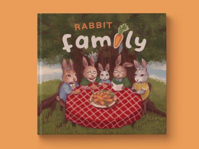 Rabbit Family book illustration design book design childrens book children book illustration book art art book cover art book cover illustration childrens illustration