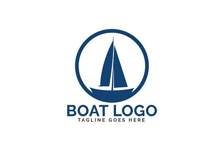 BOAT LOGO illustrator icon speed transportation transport business brand branding sport yacht boat illustration vector logo design