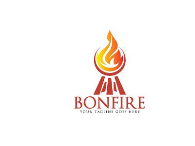 Bonfire vector logo design. Fresh Steak logo design. cook vector art celebrate festival beef bbq barbecue adventure restaurant fire food steak bonfire vector branding design illustrator logo illustration