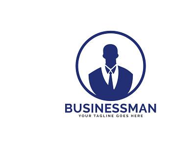Businessman Logo Design. growth investment finance business finance profit app company connect contact corporate businessman business brand vector logo illustrator illustration design branding