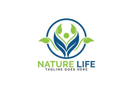 Nature Life Logo Design. cure bio character healthcare healthy health zen wellness pharmacist pharmacy life medical medicine natural nature app branding vector logo design