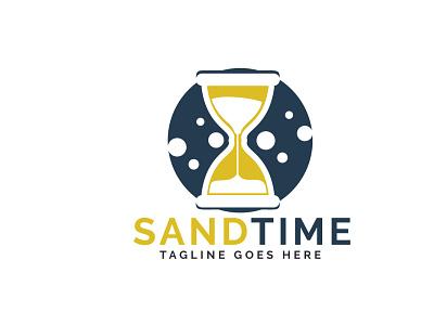 Sand time logo design. Hourglass logo design. icon vector logo glass sand time hour glass hourglass time sandtime sand app illustration branding vector logo design
