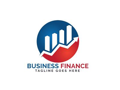 Business Finance Logo Design. banking finance app finance business logo design business logo chart graph company progress profit ui business brand illustrator app illustration branding vector logo design