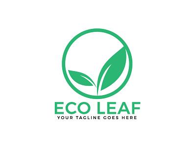 Eco Leaf Vector Logo Design. nature illustration green round healthy nature logo ecology environmental environment leaf natural nature charity health brand app illustration branding vector logo design
