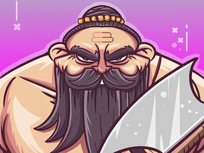 Parashurama : Rama with an Axe app vector ui design graphic design illustration