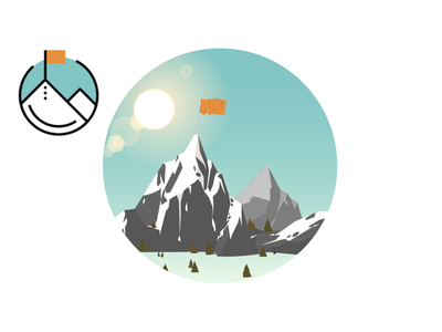 ZapERP logo redesign snow trees art vector photoshop figma designer design illustrator illustration block five blockfive landscape flag mountains redesign logo system inventory zaperp