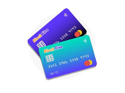 Credit Cards Duo master card contactless graphic vector photoshop figma designer design illustrator illustration blockfive block five bank cards bank cards credit cards credit card credit