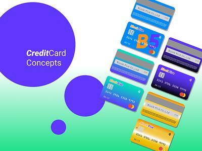 Credit Card Concepts vector photoshop master card illustrator illustration graphic figma designer design credit cards credit card credit contactless concept cards block five blockfive bank cards bank