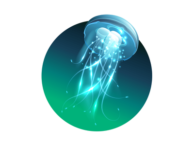 Jellyfish ocean photoshop figma graphic art vector designer design illustration illustrator block five blockfive electric life sea water fish creature animal jellyfish